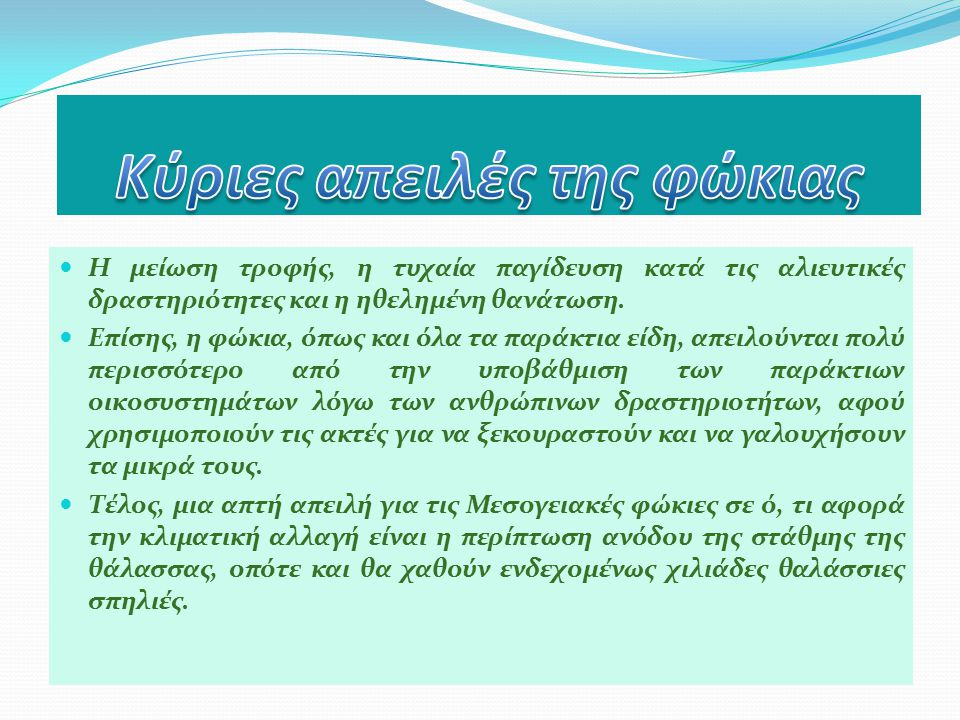 «Εφευρέτες» του συστήματος σόναρ, εξαιρετικοί ακροβάτες, δεινοί κολυμβητές, θιασώτες του έρωτα, οι πλέον κοινωνικοί κάτοικοι των ελληνικών θαλασσών.
