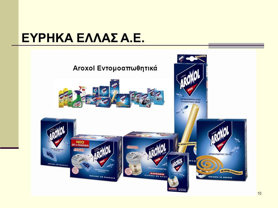 10 ΕΥΡΗΚΑ ΕΛΛΑΣ Α.Ε. Aroxol Εντομοαπωθητικά