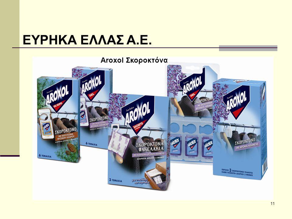 11 ΕΥΡΗΚΑ ΕΛΛΑΣ Α.Ε. Aroxol Εντομοαπωθητικά Aroxol Σκοροκτόνα