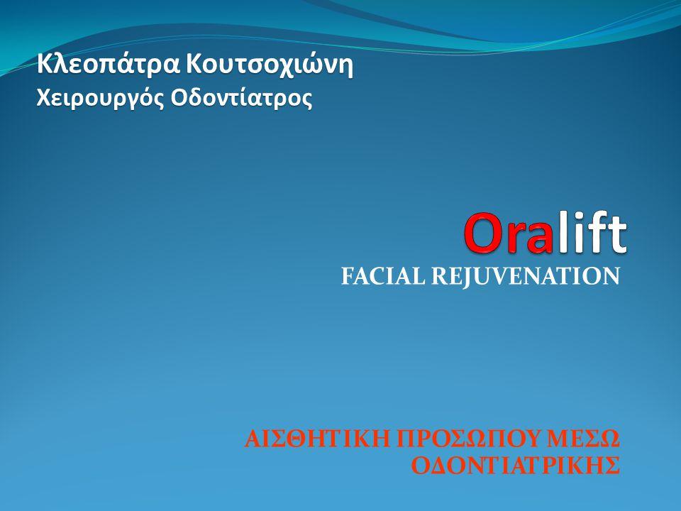 FACIAL REJUVENATION ΑΙΣΘΗΤΙΚΗ ΠΡΟΣΩΠΟΥ ΜΕΣΩ ΟΔΟΝΤΙΑΤΡΙΚΗΣ Κλεοπάτρα Κουτσοχιώνη Χειρουργός Οδοντίατρος