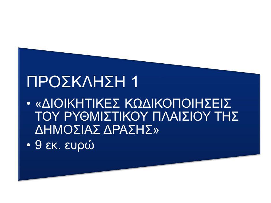 3 ΠΡΟΒΛΕΨΕΙΣ Νομική Δέσμευση Δαπάνες 20142015 04/2014600.000,00€1.700.000,00€ Κωδικοποίηση των Νομοθετικών και Κανονιστικών Ρυθμίσεων του τομέα Κοινωνικής Ασφάλισης (Π/Υ: 2.308.900€) Με την επικαιροποίηση της πρότασης εξυγίανσης του Προγράμματος παραμένει και χρηματοδοτείται από το ΕΠ ΔΜ και καθίσταται δυνατή η άμεση συμβασιοποίηση του έργου: