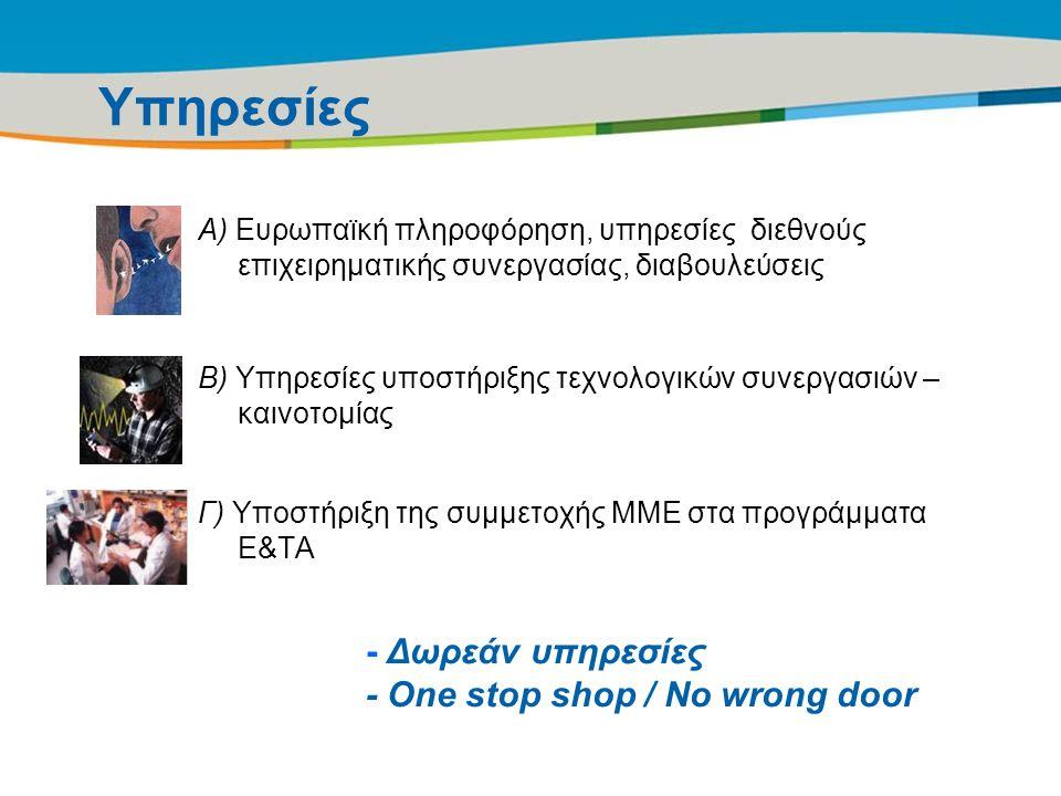 Title of the presentation | Date |10 Υπηρεσίες Α) Ευρωπαϊκή πληροφόρηση, υπηρεσίες διεθνούς επιχειρηματικής συνεργασίας, διαβουλεύσεις Β) Υπηρεσίες υπ