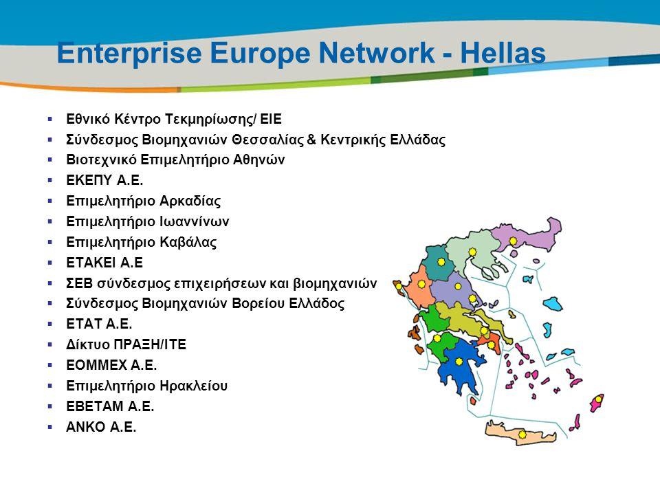 Title of the presentation | Date |7 Enterprise Europe Network - Hellas  Εθνικό Κέντρο Τεκμηρίωσης/ ΕΙΕ  Σύνδεσμος Βιομηχανιών Θεσσαλίας & Κεντρικής