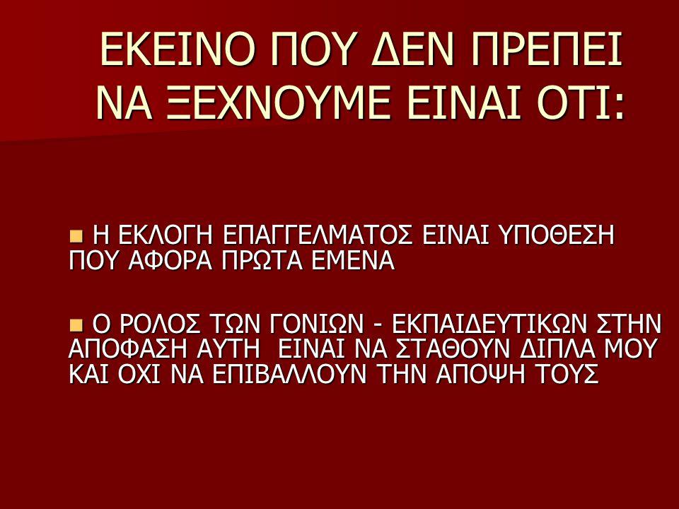 Διευθύνσεις φορέων στο διαδίκτυο σχετικών με την εκπαίδευση και την απασχόληση www.pi-schools.gr Παιδαγωγικό Ινστιτούτο www.ypepth.gr Υπουργείο Εθνικής Παιδείας και Θρησκευμάτων www.oaed.gr Οργανισμός Απασχόλησης Εργατικού Δυναμικού www.neagenia.gr Γενική Γραμματεία Νέας Γενιάς www.iky.gr Ίδρυμα Κρατικών Υποτροφιών www.agoraergasias.gr Δικτυακός τόπος για προσφορά και ζήτηση εργασίας