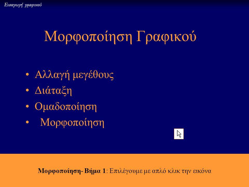 16 Εισαγωγή γραφικού Και με κλικ στο κείμενο WordArt εμφανίζεται η μπάρα με τα εργαλεία επεξεργασίας του κειμένου WordArt