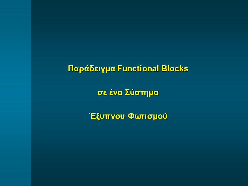 Παράδειγμα Functional Blocks σε ένα Σύστημα Έξυπνου Φωτισμού