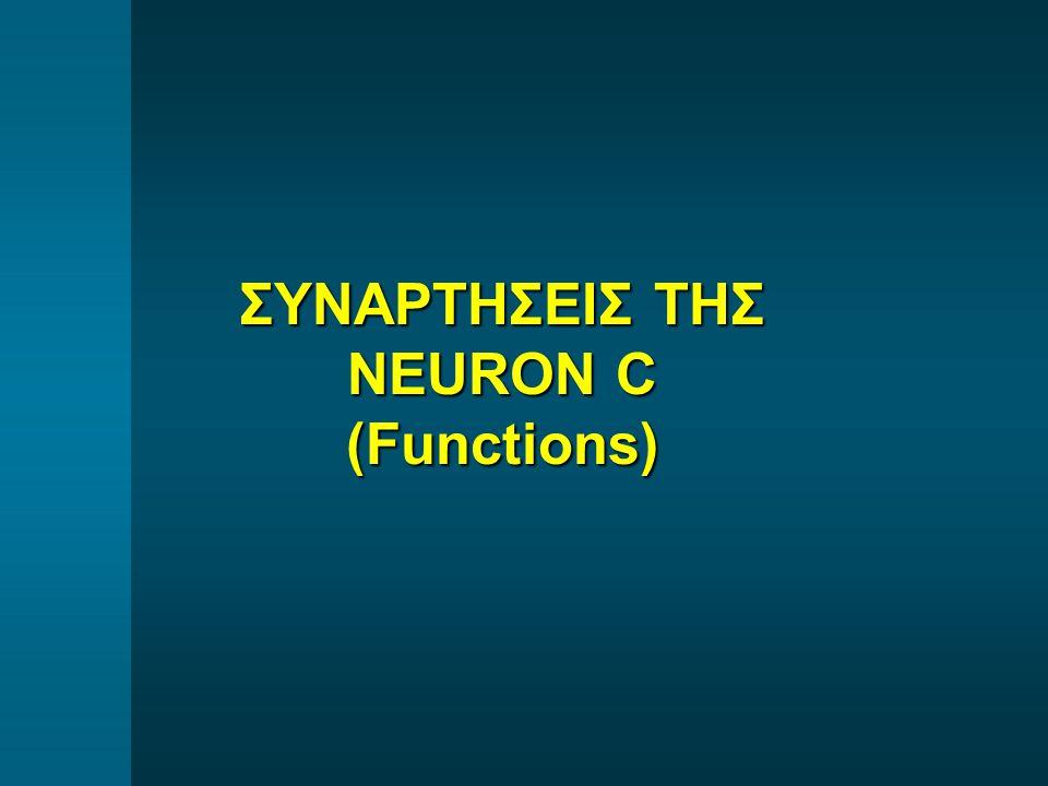 ΣΥΝΑΡΤΗΣΕΙΣ ΤΗΣ NEURON C (Functions)