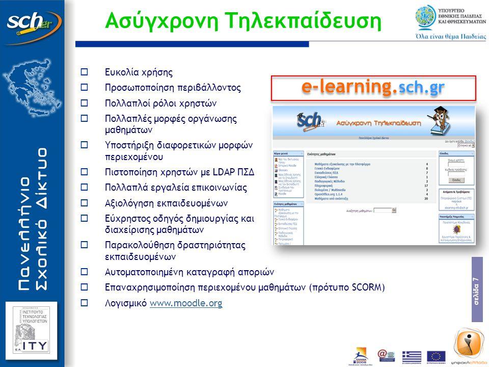 σελίδα 18  Λειτουργικά χαρακτηριστικά Λογαριασμός της μορφής : user@sch.gr Τύποι λογαριασμών:  «Εκπαιδευτικός».