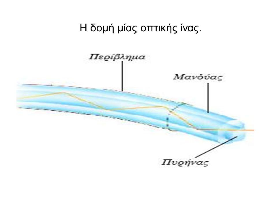 Η δομή μίας οπτικής ίνας.