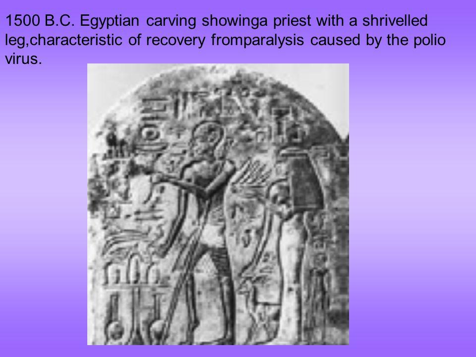 1157 B.C The Pharaoh Ramses V died of smallpox.