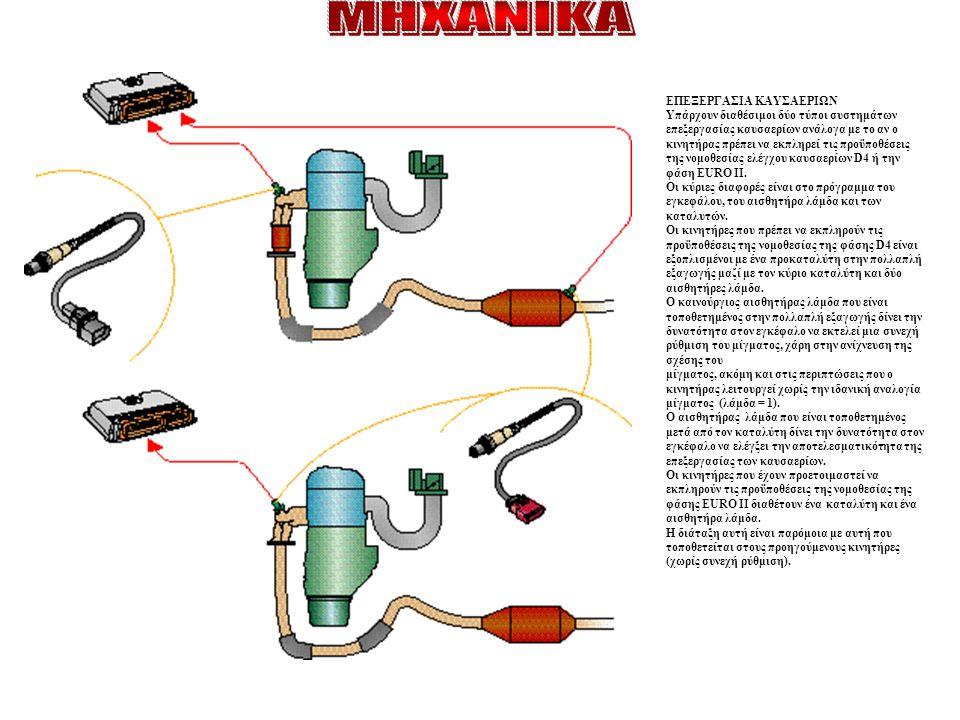 ΕΠΕΞΕΡΓΑΣΙΑ ΚΑΥΣΑΕΡΙΩΝ Υπάρχουν διαθέσιμοι δύο τύποι συστημάτων επεξεργασίας καυσαερίων ανάλογα με το αν ο κινητήρας πρέπει να εκπληρεί τις προϋποθέσε