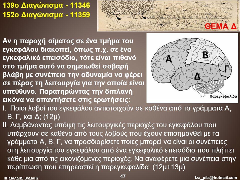 Αν η παροχή αίματος σε ένα τμήμα του εγκεφάλου διακοπεί, όπως π.χ. σε ένα εγκεφαλικό επεισόδιο, τότε είναι πιθανό στο τμήμα αυτό να σημειωθεί σοβαρή β