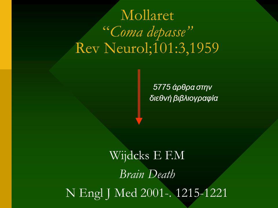 Παρακλινικές εξετάσεις για την επιβεβαίωση του εγκεφαλικού θανάτου 1-Αγγειογραφία εγκεφάλου (Μαγνητική αγγειογραφία) 2-Ηλεκτροεγκεφαλογράφημα 3-Διακρανιακό υπερηχογράφημαν Doppler (transcranial doppler-TCD) 4-Ραδιοισοτοπική αγγειογραφία (TC 99m)