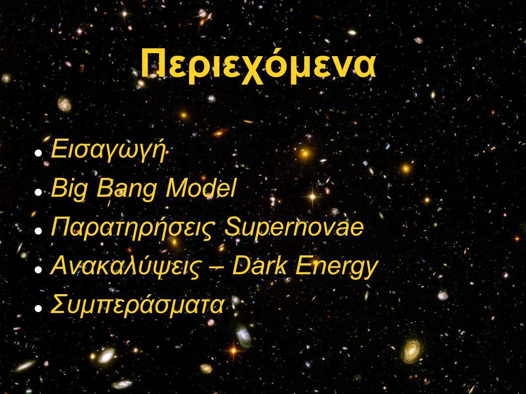 Η απόσταση ανάμεσα σε δύο γαλαξίες ως συνάρτηση του χρόνου.