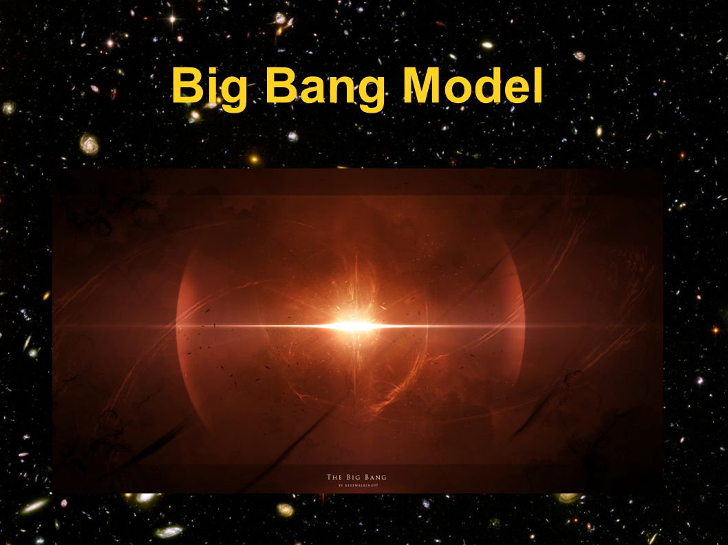 Βασικά στοιχεία μοντέλου Το Σύμπαν προέρχεται από ένα αρχικό σημείο, το οποίο κάποτε περιείχε όλη του την ύλη/ενέργεια, το οποίο είναι απειροελάχιστα μικρό και άπειρο σε πυκνότητα (Singularity).