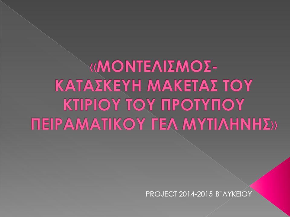 PROJECT 2014-2015 Β΄ΛΥΚΕΙΟΥ