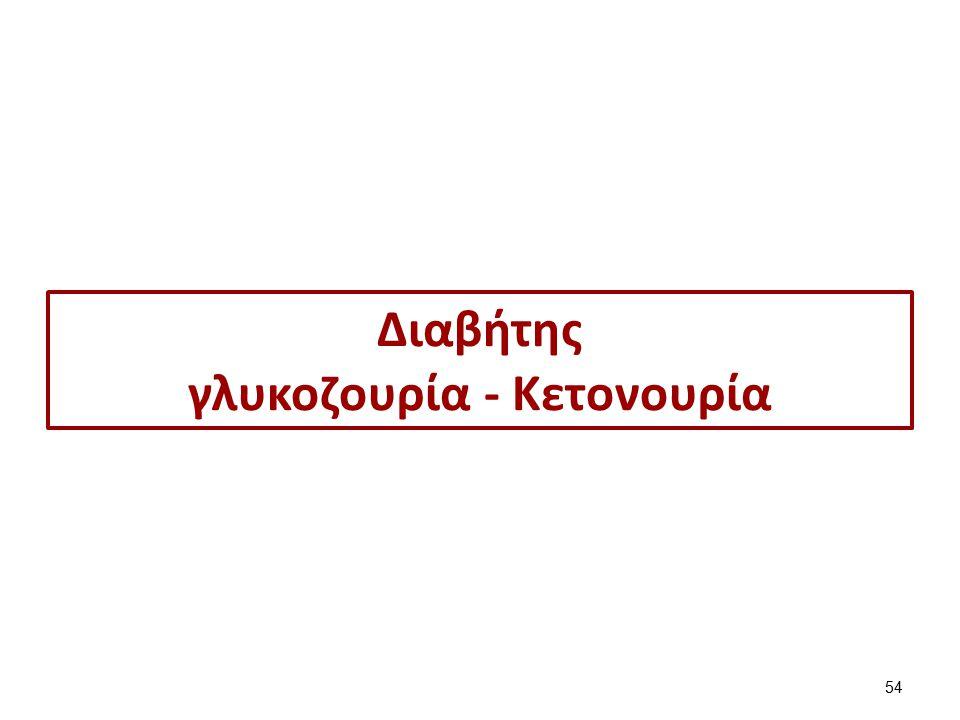 Διαβήτης γλυκοζουρία - Kετονουρία 54
