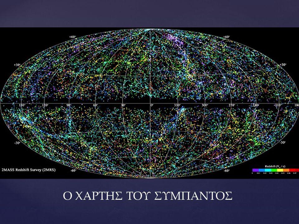 Από τι αποτελείται το Σύμπαν Το Σύμπαν αποτελείται από ορατή ύλη, σκοτεινή ύλη και σκοτεινή ενέργεια.