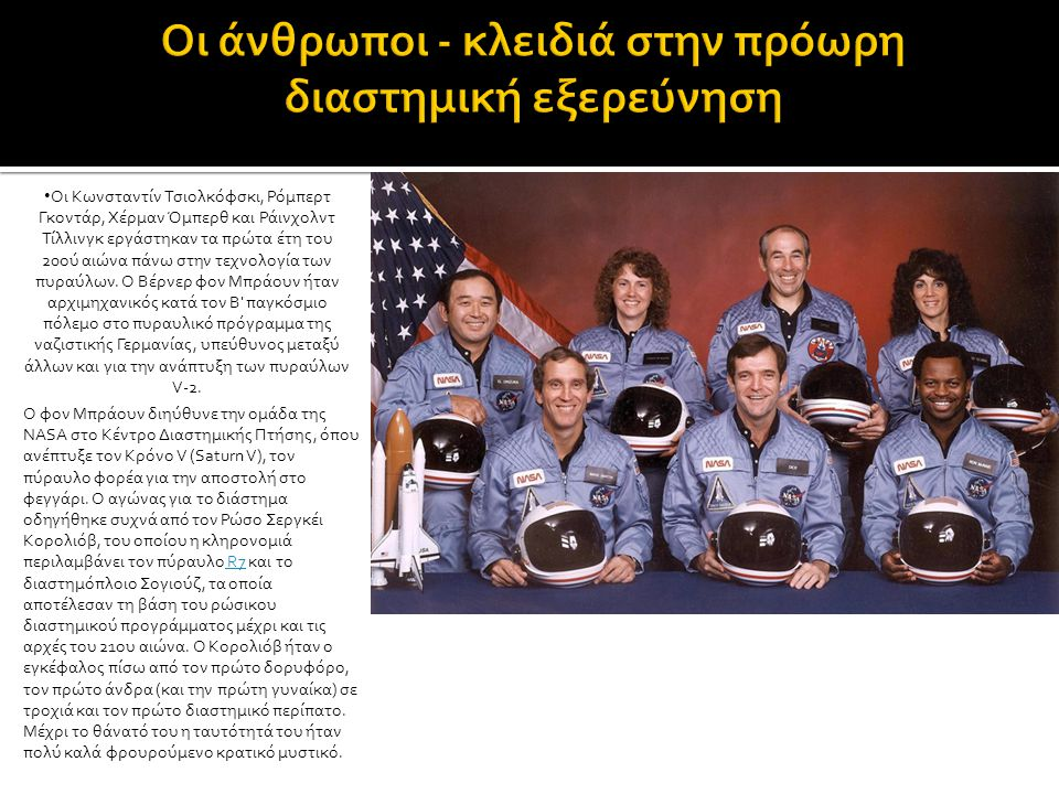 Η πρώτη επανδρωμένη πτήση στο διάστημα έγινε με το Vostok 1, φέρνοντας τον 27χρονο κοσμοναύτη Γιούρι Γκαγκάριν, κατά την ιστορική ημερομηνία της 12ης