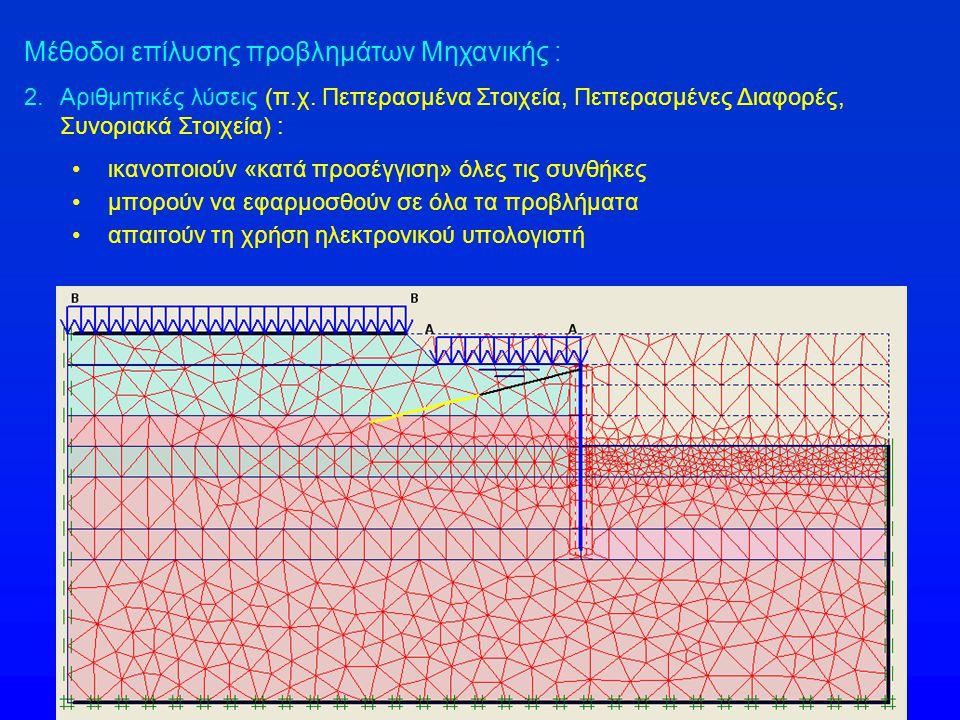 Μέθοδοι επίλυσης προβλημάτων Μηχανικής : 2.Αριθμητικές λύσεις (π.χ.