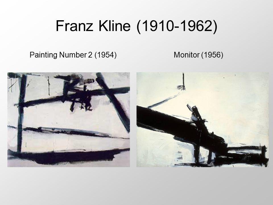 Franz Kline (1910-1962) Monitor (1956) Painting Number 2 (1954)