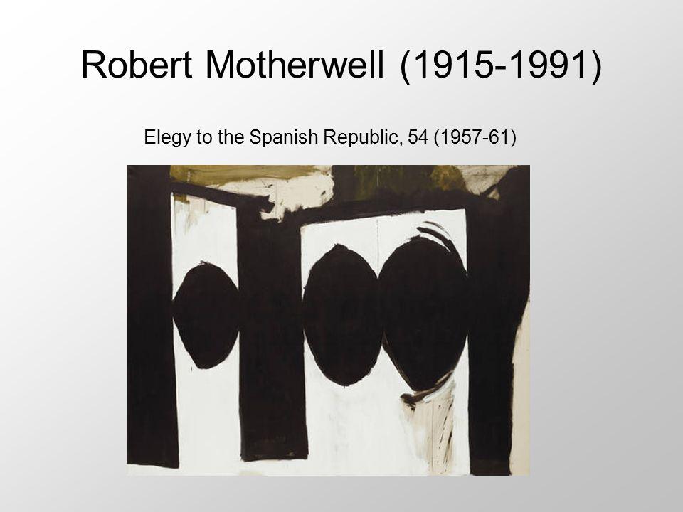 Robert Motherwell (1915-1991) Elegy to the Spanish Republic, 54 (1957-61)