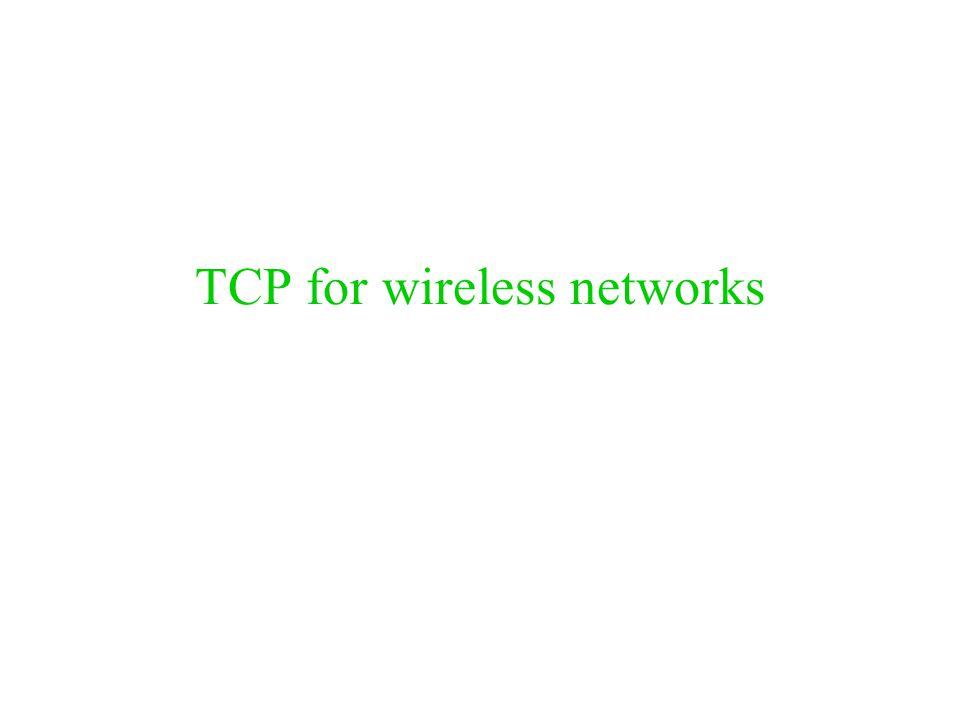 Περίληψη προβλήματος Η απώλεια πακέτων στα ασύρματα δίκτυα μπορεί να προκαλείται από: –Λάθη στα bit (bit errors) –Αλλαγές στο σταθμό βάσης κατά τη διάρκεια μιας επικοινωνίας (handoffs) –Συμφόρηση (σπάνια) –Επαναδιάταξη (σπάνια) Το TCP υποθέτει πως η απώλεια πακέτων οφείλεται σε συμφόρηση ή αναδιάταξη Ο έλεγχος συμφόρησης στο TCP αντιδρά στις απώλειες πακέτων, και δεν δουλεύει καλά με τα ασύρματα δίκτυα.