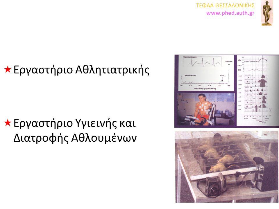 ΣΕΦΑΑ ΘΕΣΣΑΛΟΝΙΚΗΣ www.phed.auth.gr Εργαστήριο Εργοφυσιολογίας Εργομετρίας Εργαστήριο Εργοφυσιολογίας Εργομετρίας Εργαστήριο Αναπτυξιακής Ιατρικής και