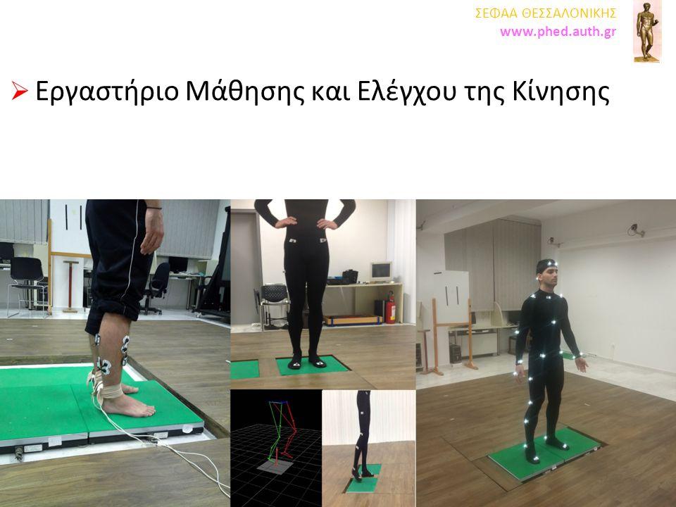  Εργαστήριο Αθλητιατρικής  Εργαστήριο Υγιεινής και Διατροφής Αθλουμένων ΤΕΦΑΑ ΘΕΣΣΑΛΟΝΙΚΗΣ www.phed.auth.gr