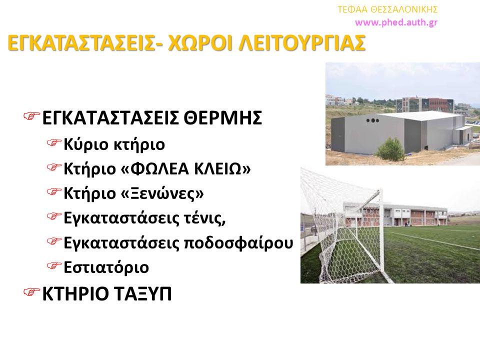  Εργαστήριο Μάθησης και Ελέγχου της Κίνησης ΣΕΦΑΑ ΘΕΣΣΑΛΟΝΙΚΗΣ www.phed.auth.gr