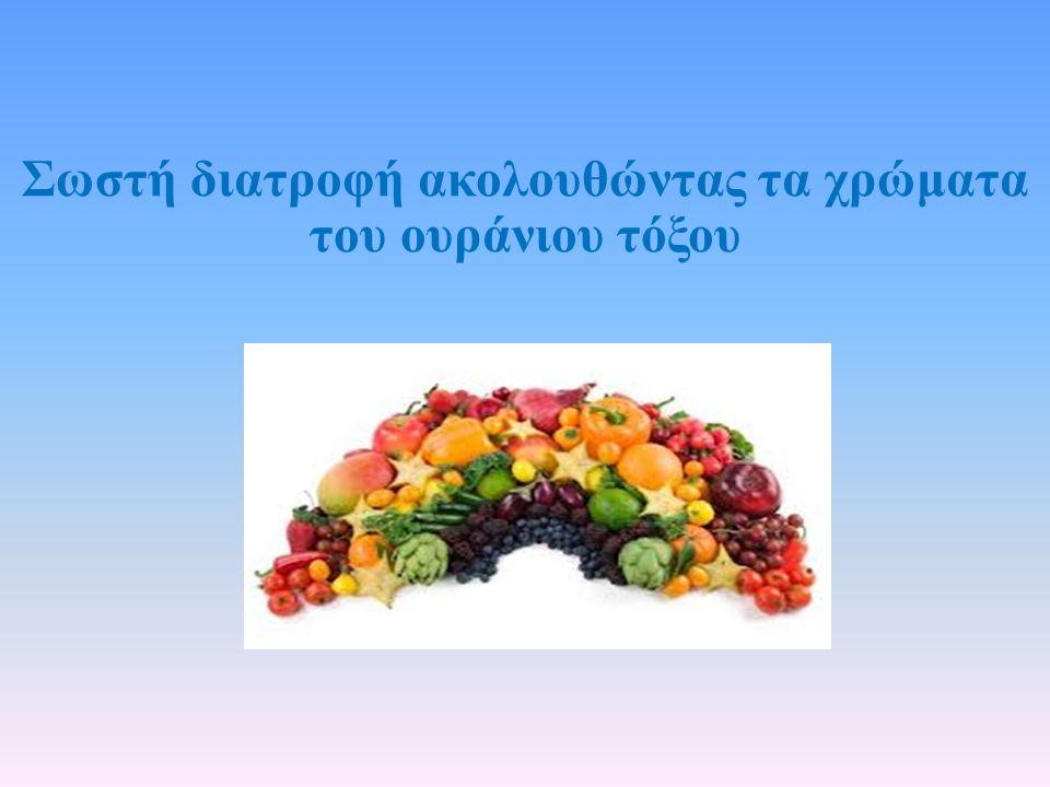Σωστή διατροφή ακολουθώντας τα χρώματα του ουράνιου τόξου