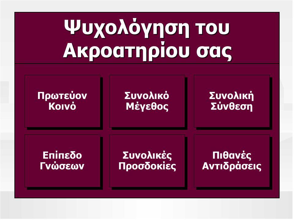 Συλλογή Πληροφοριών Ανεπίσημες Μέθοδοι ΑπόψειςΆλλωνΑπόψειςΆλλωνΕταιρικάΈγγραφα και Αναφορές ΕταιρικάΈγγραφα Επιβλέποντες,Συνεργάτες και Πελάτες Επιβλέποντες,Συνεργάτες Συμμετοχή(Προσφορά)ΑκροατηρίουΣυμμετοχή(Προσφορά)Ακροατηρίου