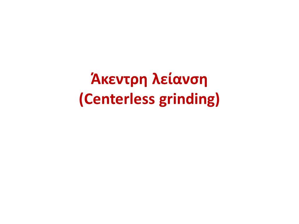 Άκεντρη λείανση (Centerless grinding)