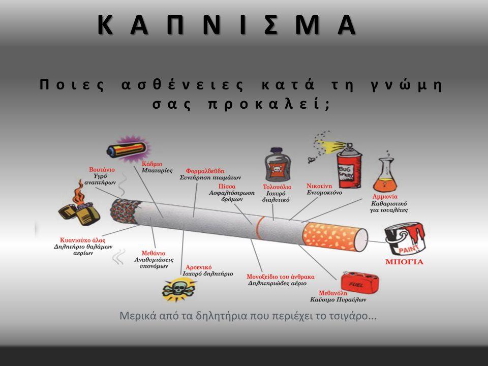 Το κάπνισμα έχει 50 τρόπους να σου καταστρέψει τη ζωή μέσω μιας ασθένειας και… …περισσότερους από 20 τρόπους για να σε οδηγήσει στο θάνατο.