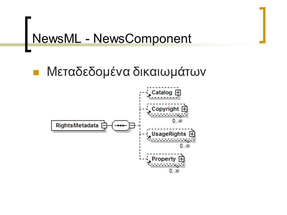 NewsML - NewsItem NewsML Envelope NewsItem NewsComponent ContentItem