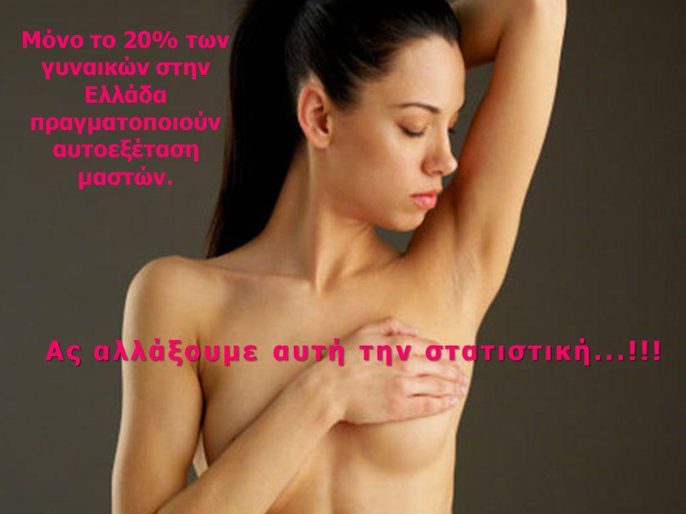 Μόνο το 20% των γυναικών στην Ελλάδα πραγματοποιούν αυτοεξέταση μαστών. Ας αλλάξουμε αυτή την στατιστική...!!!