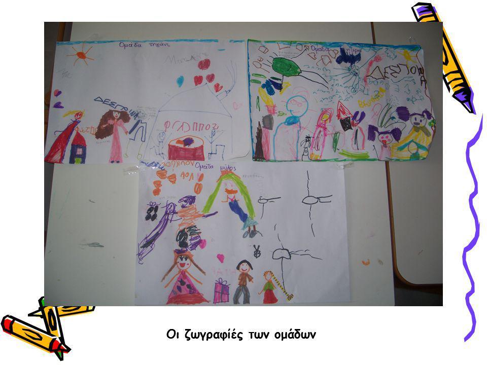 Οι ζωγραφίες των ομάδων Οι ζωγραφιές των ομάδων