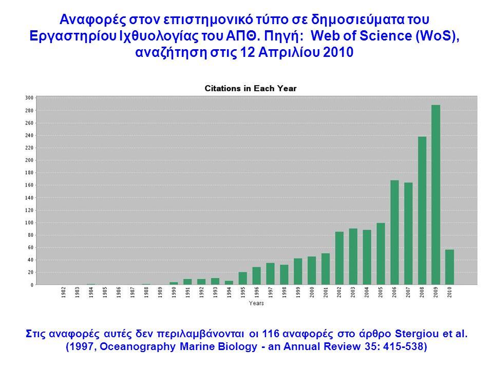 Στις αναφορές αυτές δεν περιλαμβάνονται οι 116 αναφορές στο άρθρο Stergiou et al.