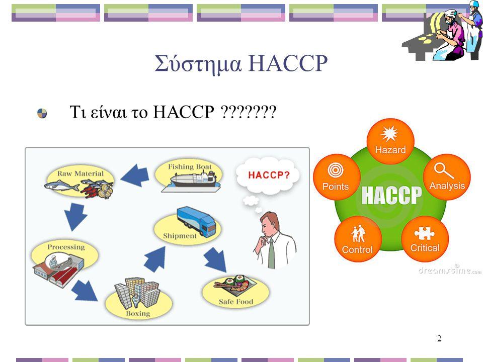 2 Σύστημα HACCP Τι είναι το HACCP ???????