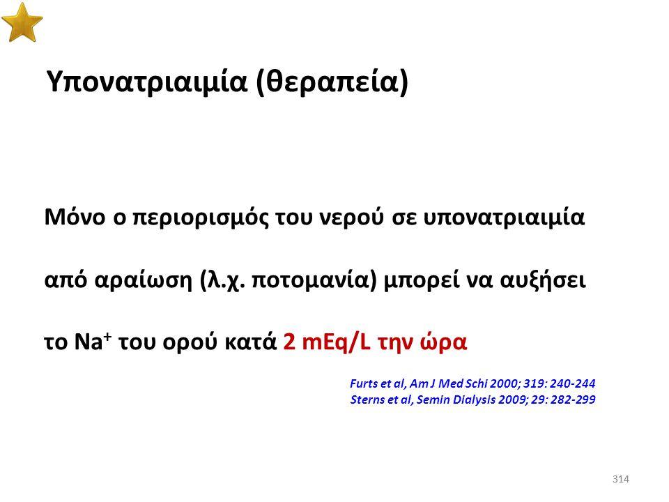 313 Υπονατριαιμία (περιορισμός υγρών) Adrogué & Madias, JASN 2012; 23: 1140-1148 313 Ο περιορισμός στην πρόσληψη των υγρών παραμένει ο ακρογωνιαίος λί
