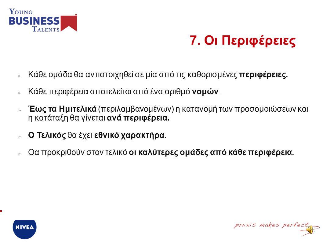 ➢ Ο διαγωνισμός αποτελείται από πέντε φάσεις (από τον 1 ο Γύρο έως τον Εθνικό Τελικό).