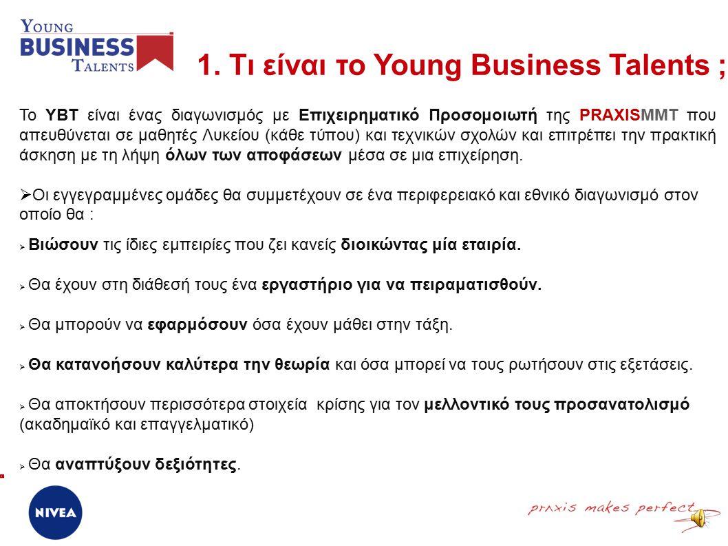 Young Business Talents 1.Τι είναι το ΥΒΤ. 2. Η Ιστορία του ΥΒΤ.