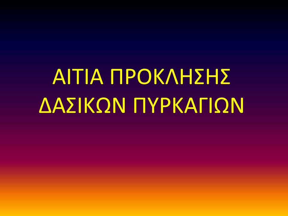ΑΙΤΙΑ ΠΡΟΚΛΗΣΗΣ ΔΑΣΙΚΩΝ ΠΥΡΚΑΓΙΩΝ
