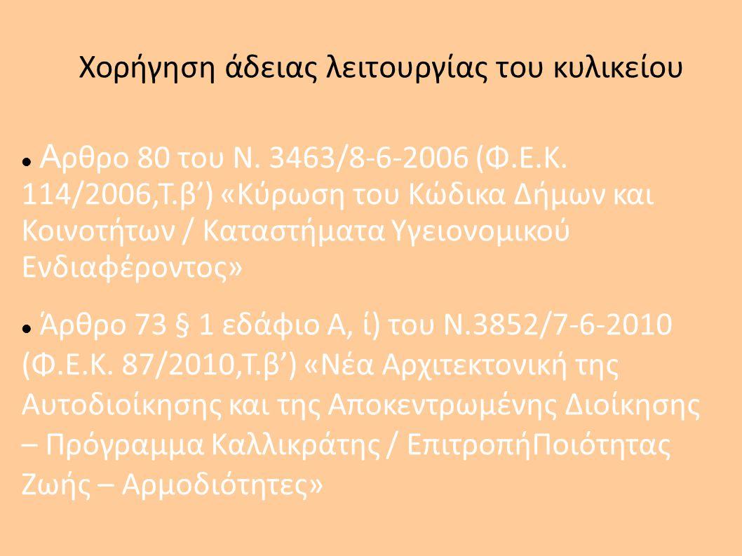 Χορήγηση άδειας λειτουργίας του κυλικείου Υπουργική απόφαση με αριθμό ΑΙβ/8577/1983 (Φ.Ε.Κ.