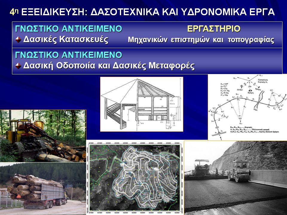 ΓΝΩΣΤΙΚΟ ΑΝΤΙΚΕΙΜΕΝΟ Δασική Οδοποιία και Δασικές Μεταφορές Δασική Οδοποιία και Δασικές Μεταφορές ΓΝΩΣΤΙΚΟ ΑΝΤΙΚΕΙΜΕΝΟ ΕΡΓΑΣΤΗΡΙΟ Δασικές Κατασκευές Μηχανικών επιστημών και τοπογραφίας Δασικές Κατασκευές Μηχανικών επιστημών και τοπογραφίας