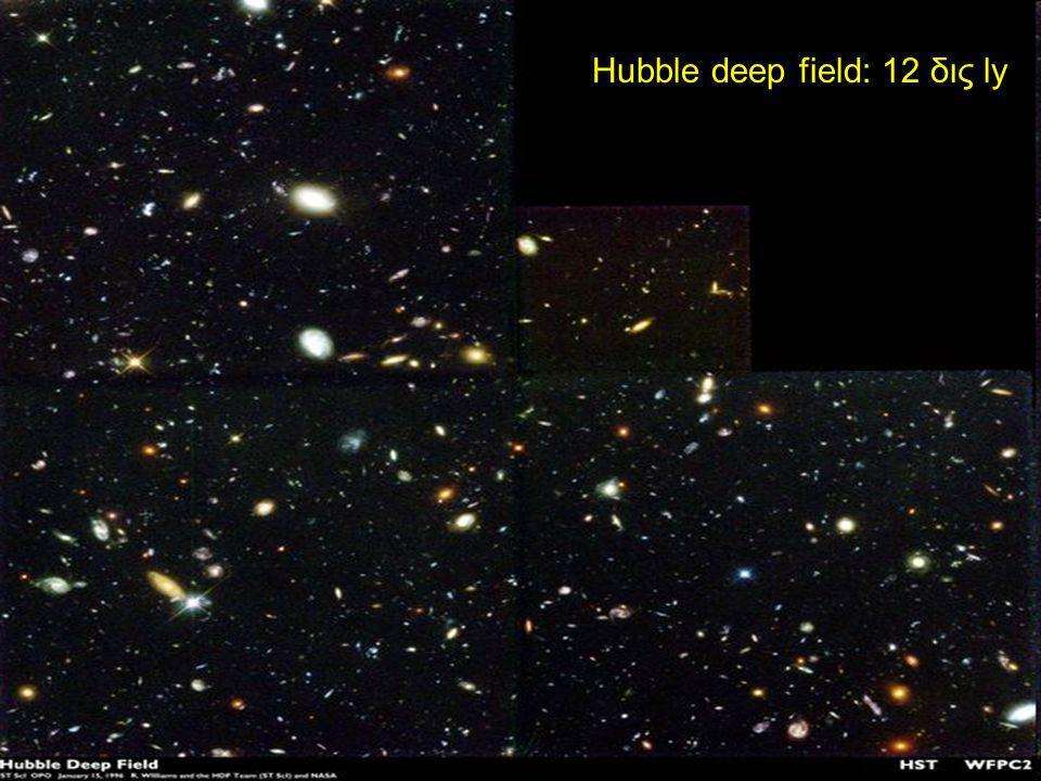 Hubble deep field: 12 δις ly