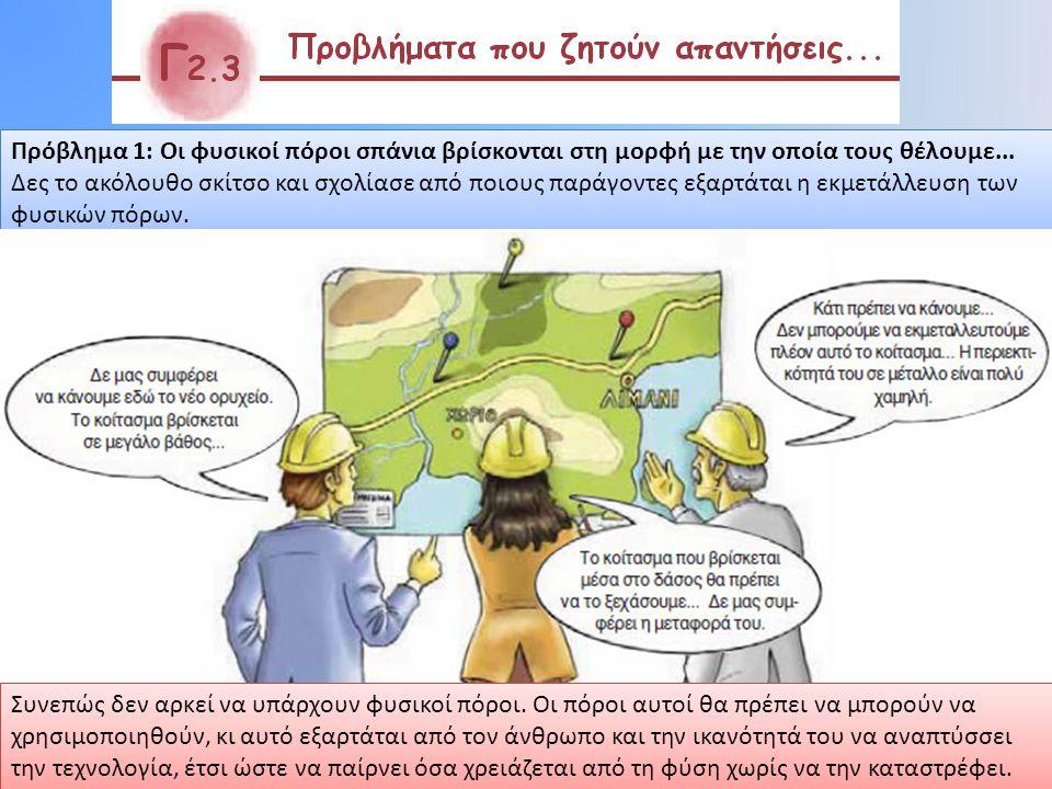 Πρόβλημα 1: Οι φυσικοί πόροι σπάνια βρίσκονται στη μορφή με την οποία τους θέλουμε...