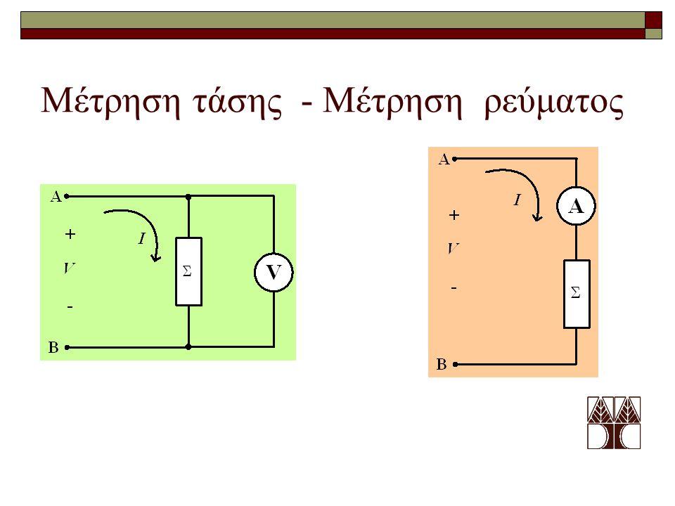 Μέτρηση τάσης - Μέτρηση ρεύματος