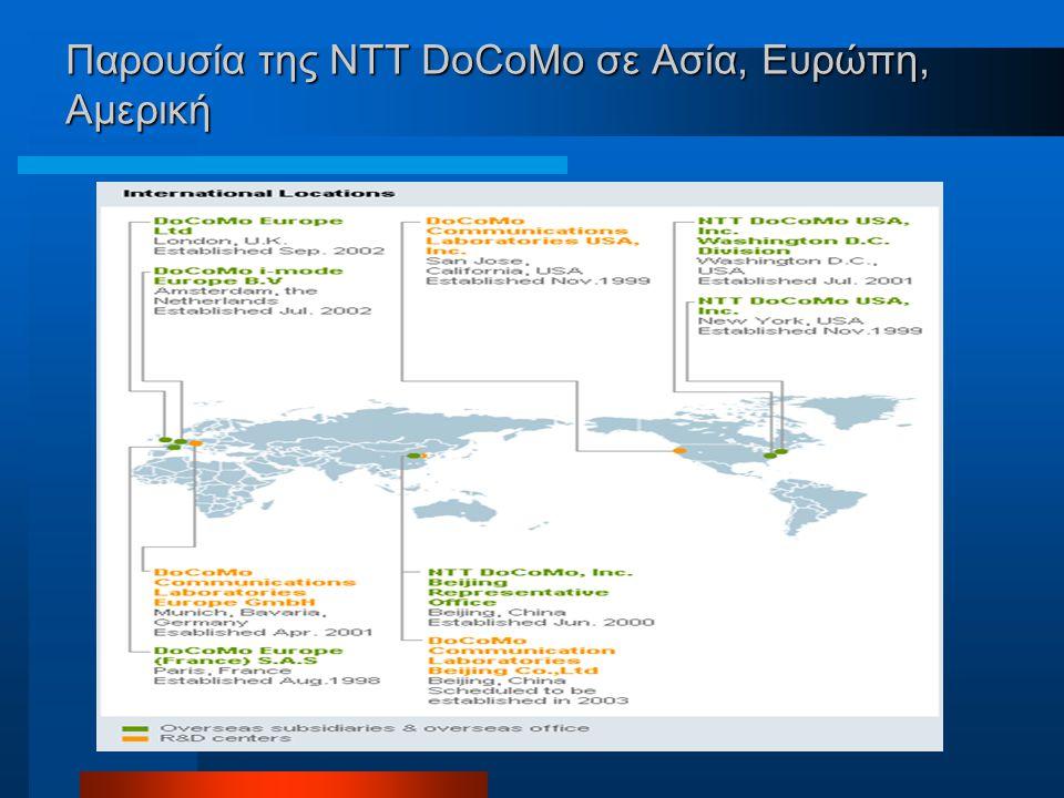 Παρουσία της NTT DoCoMo σε Ασία, Ευρώπη, Αμερική