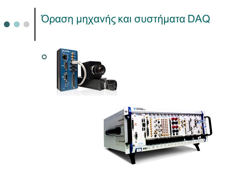 Όραση μηχανής και συστήματα DAQ